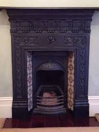 complete edwardian cast iron fireplace with grate