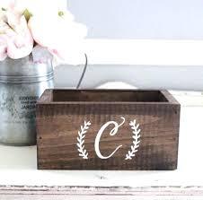 diy rustic wedding card box load image into gallery viewer rustic wedding card box with monogram