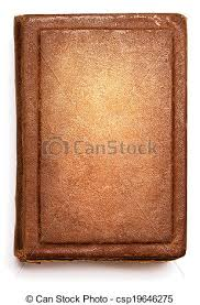 old book cover blank texture empty grunge design on white background csp19646275