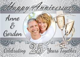 25th Wedding Anniversary Invitations Templates Free In 2019