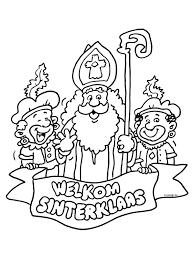 Kleurplaat Welkom Sinterklaas Kleurplatennl