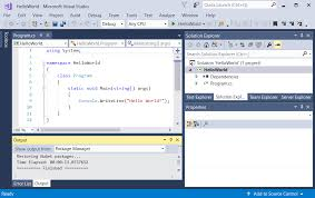 Создание приложения Hello World на C с помощью Net Core в Visual