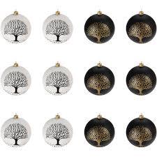 12 Stück Weihnachtskugeln ø6cm 2 Sorten Schwarz Und Weiß Glaskugeln Weihnachtsbaumkugeln Christbaumkugeln Christbaumschmuck Baumschmuck Dekokugeln