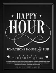 Happy Hour Flyer Happy Hour Template Magdalene Project Org
