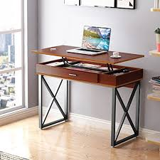 home office plan. Tribesigns Lift Top Computer Desk Height Adjustable Standing With Regard To For Home Office Plan 4