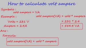 How To Calculate Volt Ampere Electrical Calculation