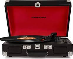 <b>Crosley CR8005D</b>-BK <b>Cruiser Deluxe</b> Portable 3-Speed <b>Turntable</b> ...