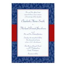 red white and blue wedding invitations & announcements zazzle Wedding Invitations Red And Blue navy blue and red damask swirl wedding invitations red white and blue wedding invitations