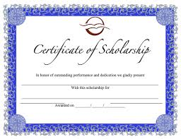 scholarship award certificate templates 28 images of scholarship template printable infovia net