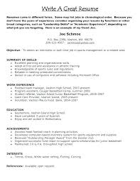 How Do I Write A Good Resume How To Write A Good Job Resume Top Rated