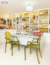 colorful home office. Perfect Home Office Design For Better Productivity : Colorful With 2 Seats Clear W