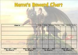 Hiccup Train Your Dragon B Job Behavior Reward Homework Chart Free