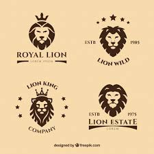 Logos With Stars Lion Logos With Stars Vector Free Download