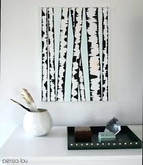 diy tree wall mural birch tree art make your own wall art with this super easy