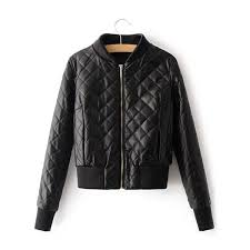 Black Quilted Cropped Bomber Jacket | Products | Pinterest ... & Black Quilted Cropped Bomber Jacket Adamdwight.com