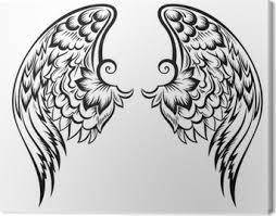 Ručně Malovaná Vektoru Wingtatoo Designu