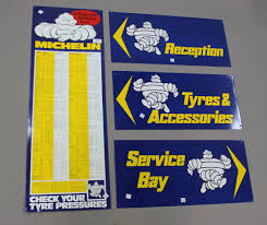 A Michelin Check Your Tyre Pressures Printed Tinplate Wall