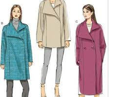 Coat Sewing Patterns Simple Coat Sewing Pattern Etsy