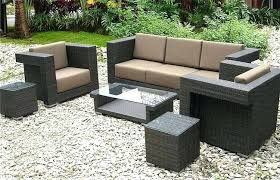 black and grey patio furniture set design with resin wicker table round outdoor wonderful sets