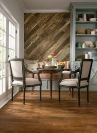 use floor vinyl as wall decor or backsplash in kitchen or bathroom