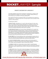 Distributor Agreement Exclusive Distribution Agreement Template