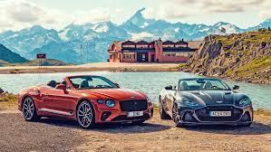 Aston Martin DBS Superleggera Volante vs Bentley Continental GT Convertible  twin test | CAR Magazine