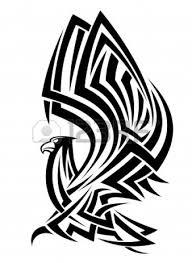 эскиз татуировки трайбл орел Tribal Eagle татуировку рф фото