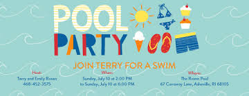 part invites pool party cute pool birthday party invitation invitation template