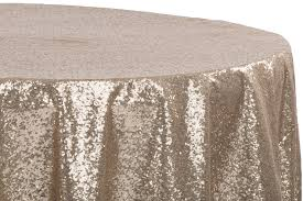glitz sequins 108 round tablecloth champagne