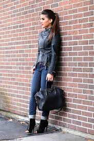 another great look can be achieved if you combine the leather jacket with dresses toughen up your favorite summer dress with chic leather jacket
