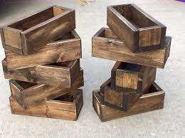 set of 10 to 25 pick your color wedding centerpiece distressed wood box flower box decor rustic beach riser pine planter box