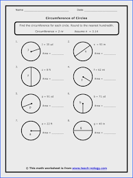 Area and Circumference Of A Circle Worksheet   Rosenvoile.com