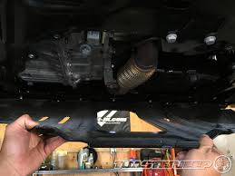 jeep renegade 2 4l multi air tigershark engine oil change write up 5 carefully lower remove and set aside your trailhawk skid plate