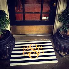 attractive miss em prints monogram front door mat