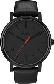amazon com timex easy reader black leather strap mens watch amazon com timex easy reader black leather strap mens watch t2n794 timex watches