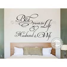 best friends for life husband and wife romantic bedroom wall art sticker e decor decal