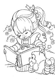 Small Picture Rainbow Brite Love to Read with Romeo Coloring Page Color Luna