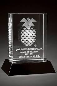 tower crystal awards