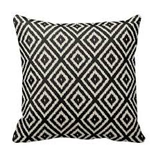 black and cream pillows.  Black 18u0026quot X Ikat Diamond Pattern In Black And Cream Pillows  Decorative Throw Pillow On N