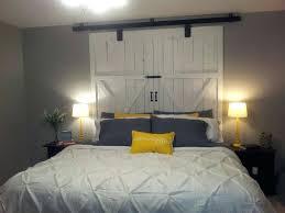 barn door headboard bedroom rustic barn door headboard steel pipe canopy king size bed shabby chic barn door headboard