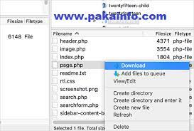 how to create custom php page template