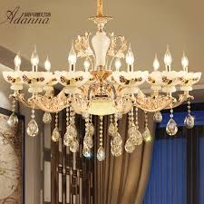 get ations european crystal chandelier zinc alloy imitation jade living room chandelier dining bedroom floor lamps european