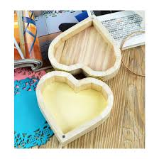 crafts toys love heart shape wooden jewelry box pictures photos
