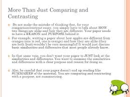 paper the comparison contrast essay ppt video online  more than just comparing and contrasting