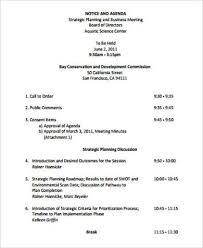 9 Sample Business Meeting Agenda Free Sample Example