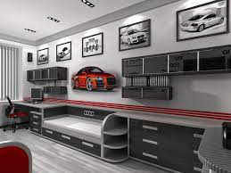 Car Themed Bedrooms For Teenagers | Car Themed Bedroom Design For Young Boys