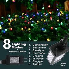 Intertek Christmas Lights Indoor Outdoor Christmas String Lights 22m 72ft 220 Leds 8 Modes Memory Function End To End Extendable Plug In Waterproof Fairy Lights For