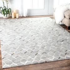 leather rugs handmade modern keyhole trellis viscose grey rug