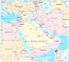 labeled middle east map