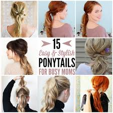 Cute Ponytail Hairstyles 43 Inspiration 24 Cute And Quick Ponytail Ideas To Spruce Up Mom Hair